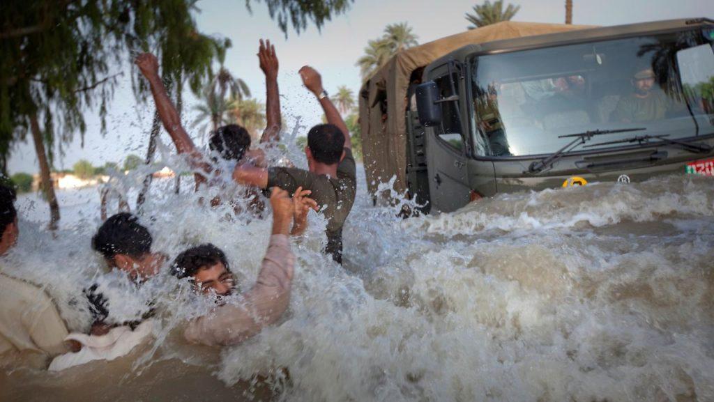 Sturmflut Pakistan Naturkatastrophe
