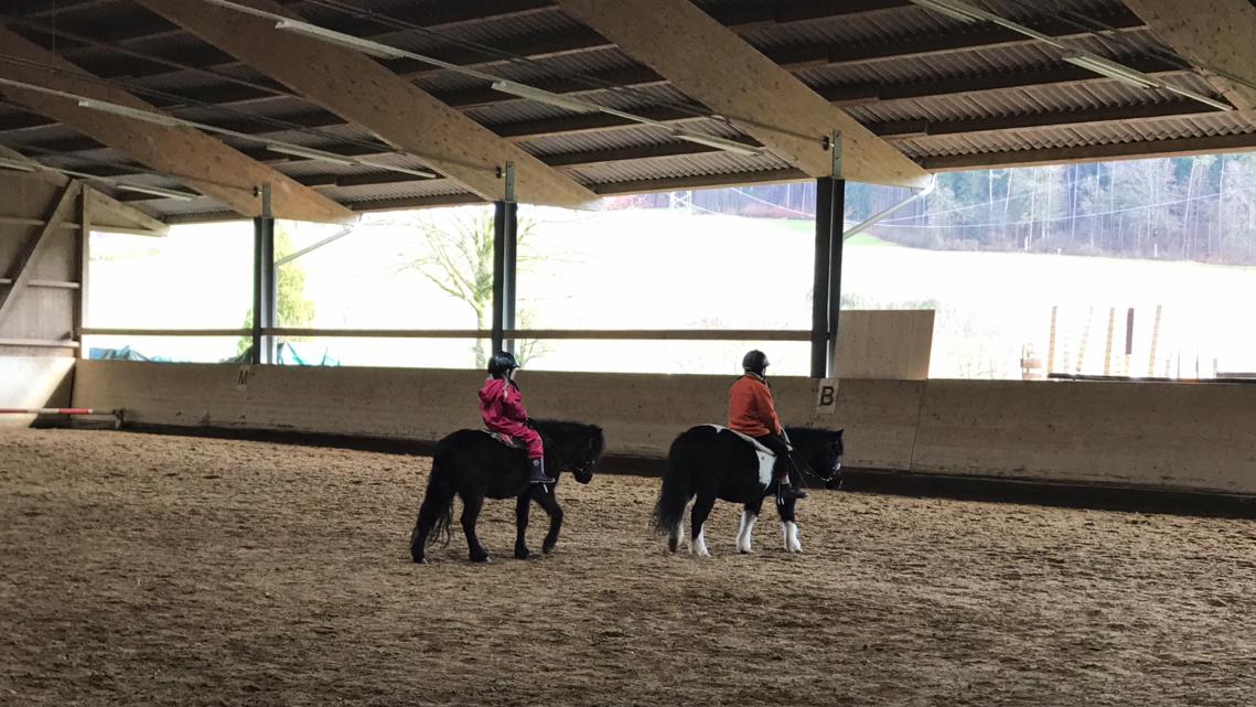 Reiterhof Hueb Oberembrach Pony Reiten zu zweit