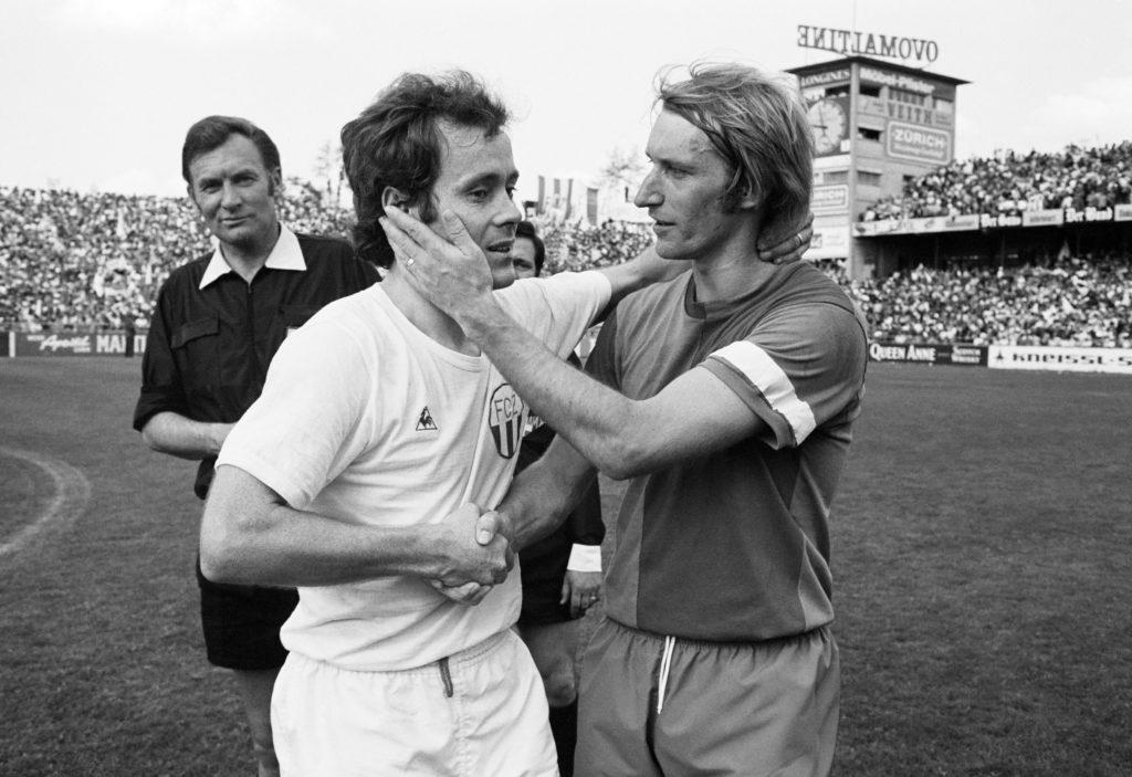 Köbi Kuhn und Karli Odermatt Cupfinal 18. Mai 1970 Bern