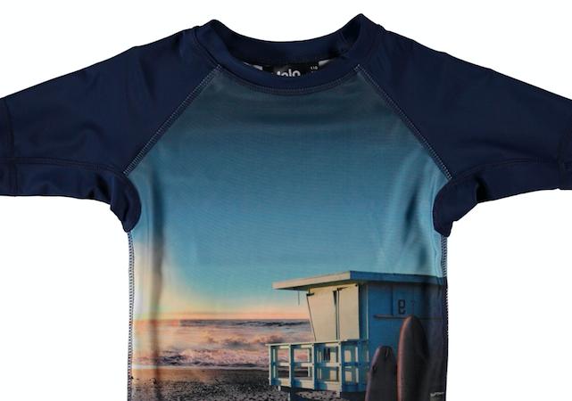 Kinder Bademode forK T-shirt Jungs Sonnenuntergang worldofwellness