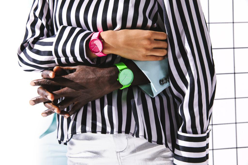 Skagen Aaren Kulor Neon pink grün Uhren trendsandstyle